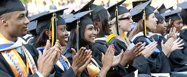 Diverse Students at Commencement
