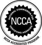NCCA accredited program logo