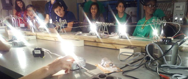 Students Conducting an Electricity Lab