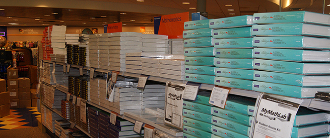 Textbooks at the bookstore