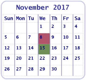 November 2017 Online Education Workshop Calendar