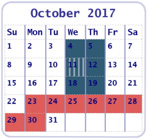 October 2017 Online Education Workshop Calendar