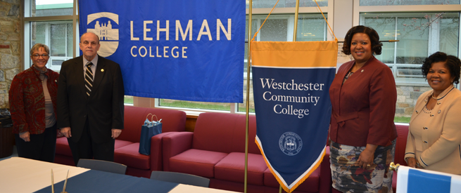 Representatives from Lehman College and Westchester Community College