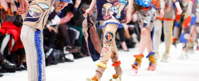 Models walk the runway in elaborate designs