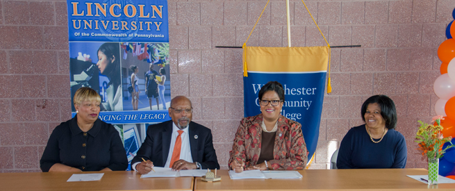 Lincoln University and Westchester Community College Representatives