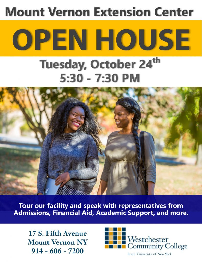 Mount Vernon Open House announcement