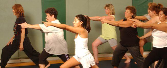 Women's fitness class