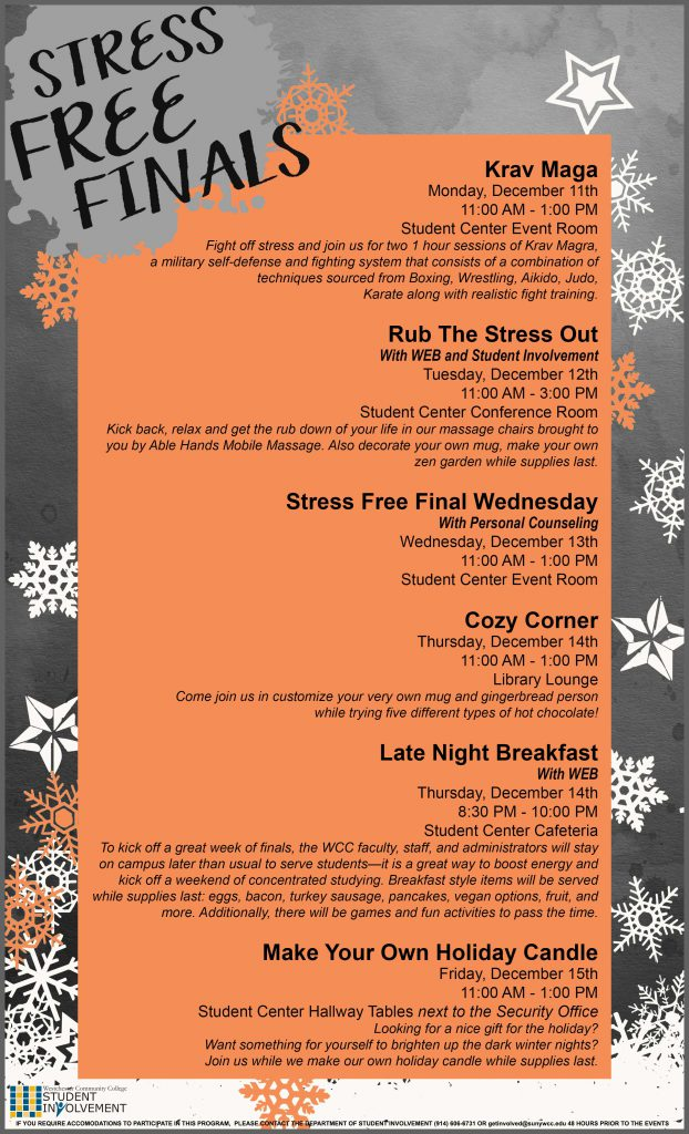 Stress Free Finals Events