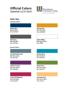 RGB Official Swatch Sheet