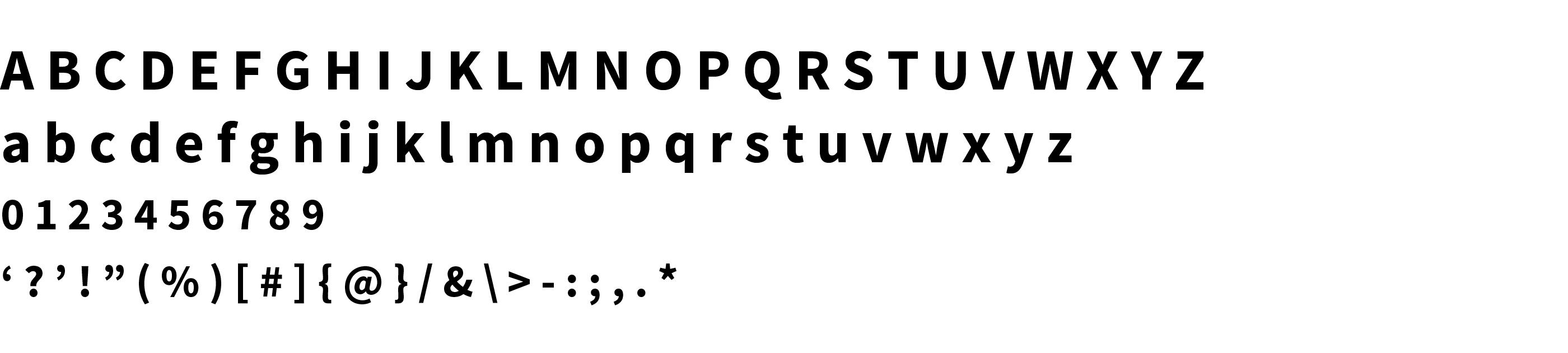 Type Specimen Source Sans Pro Bold