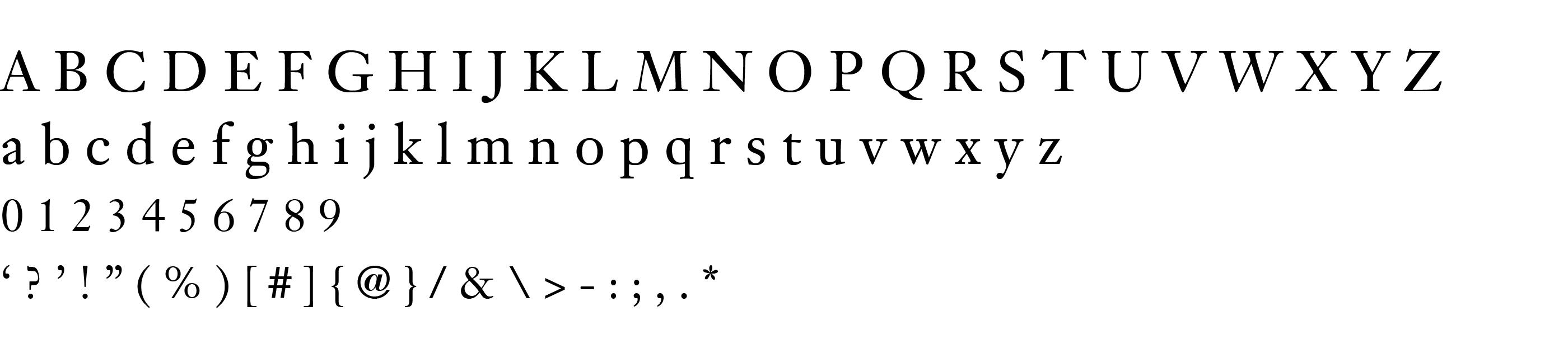Type Specimen Janson LT
