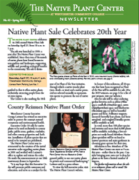 Native Plant Center Newsletter Thumbnail