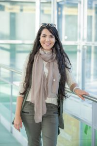 Student Andressa in the Gateway Center