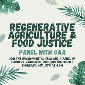 Regenrative Agriculture Panel