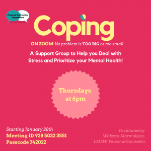 Coping Support Group Graphic