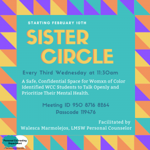 Sister Circle Support Group Graphic