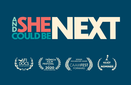 And She Could Be Next logo and awards